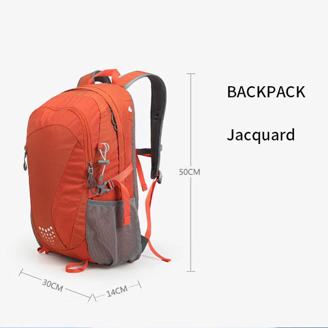 RU81096 Leisure Athletic Backpack Waterproof Jacquard Pack Sports Bag