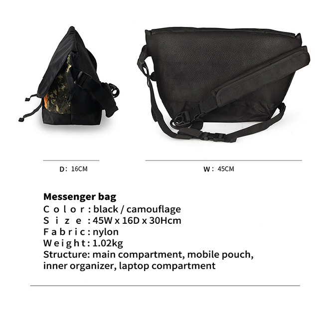 Large Messenger Shoulder Meeting Bag for School College Office W Organiser Pocket RU81046