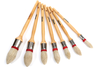 Round Natural Bristle Paint Brush