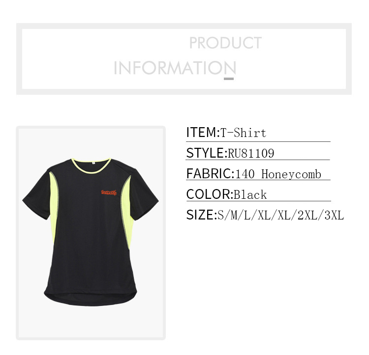 RU81109 Custom Honeycomb Fabric Sport T-Shirt for Men