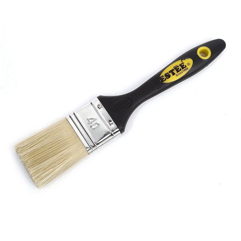 Rubber Handle Paint Brush with PBT Synthetic Fiber