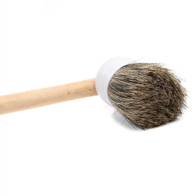 Natural Bristle Round Radiator Paint Brush with Replaceable Head