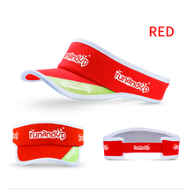 RU81106 Polyester Sun Visor Cap with White 3D Embroidery Logo