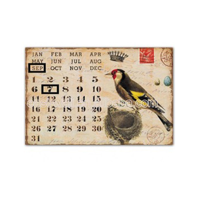 Vintage Style Calendar Indoor Wall Plaque Decor Wholesale Art And Craft Supplies