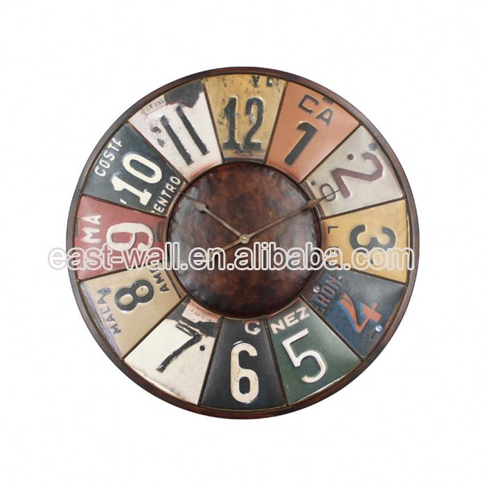 High Quality Retro Iron Muslim Wall Clock Personalized