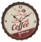 33cm Beer Soda Bottle Cap Wall Clock with Vintage Rustic Prints European Retro Nostalgic Style Wall Clock