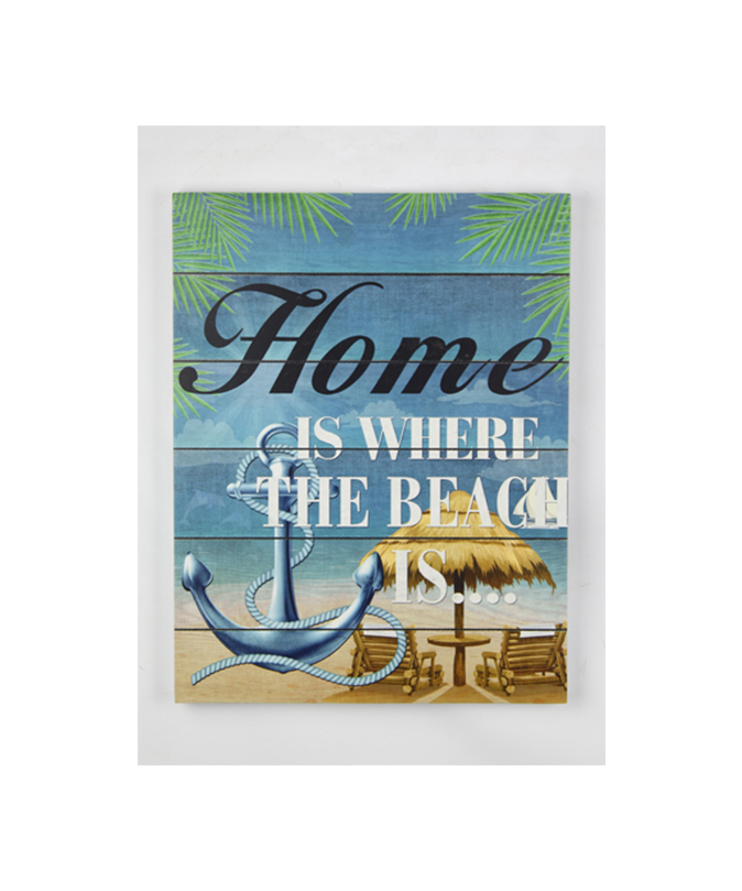 2019 Custom Logo Wholesale Fashion Beach Decorative Wall Hanging Wood Sign