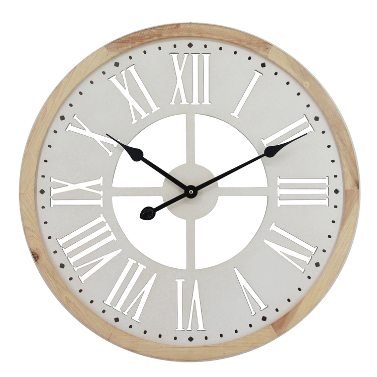 Cheap Prices Decorative 60CM Wooden Wall Clocks Unique Use Battery