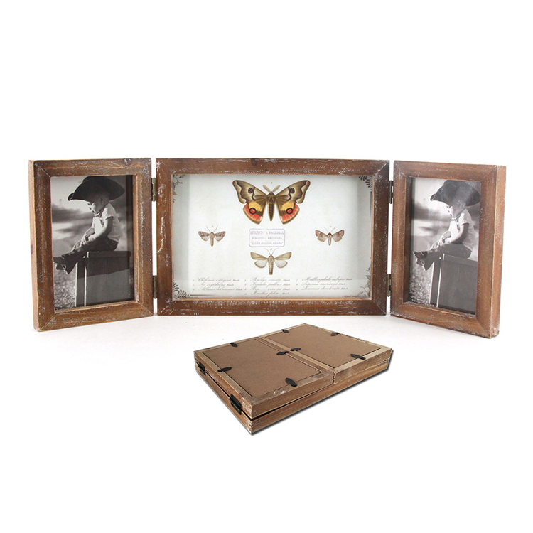 Custom Home Decorative Vintage Wooden Multi Photo Frame