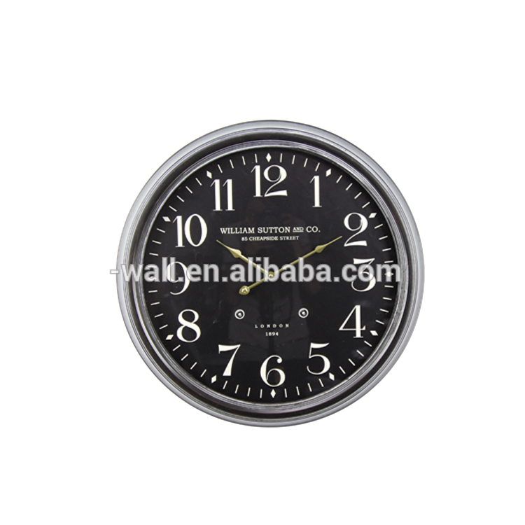 Home Decoration Promotional Item Paper Craft Factory Price Metal Wall Clock
