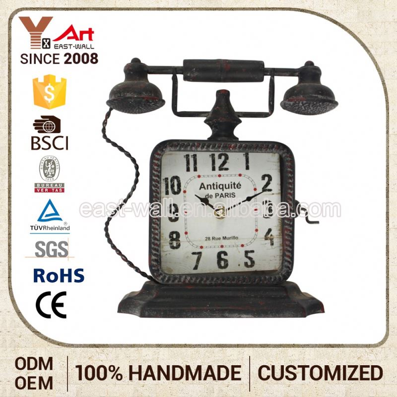 Sell Good Quality Telephone Shaped Antique Clock Parts Design