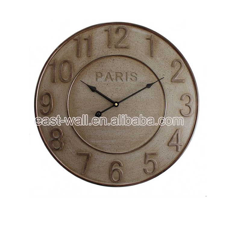 Luxury Quality Lowest Price Custom Print Mini Cheap Carved Wood Wall Clock Decor