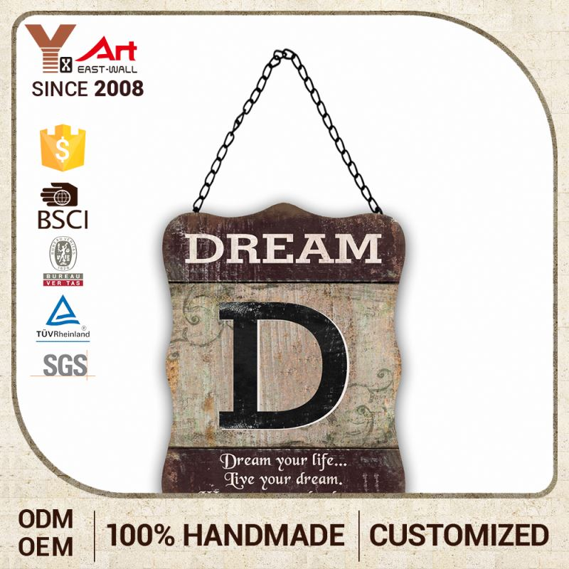 Special Design Custom Logo Craft Art Decorative Tree Wall Plaques Plaque