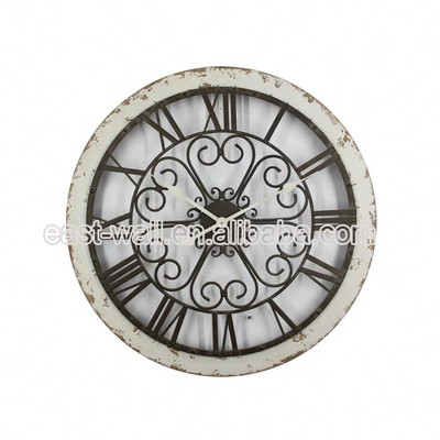 100% Warranty Art Work Craft Iron Pace Clock Clocks Gifts Antiques
