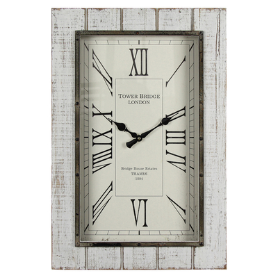 2018 New Fashion Wooden Frame Retro Mechanical Wall Clock