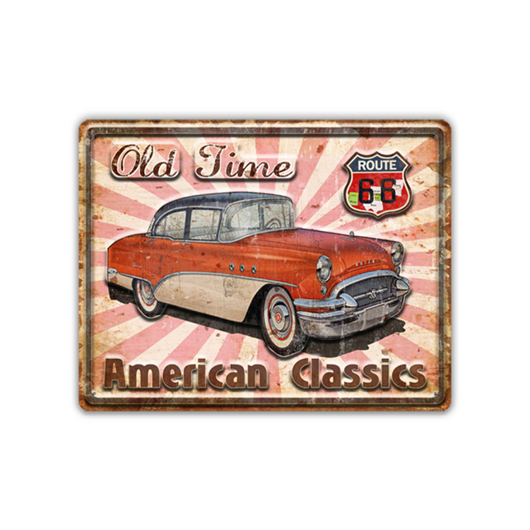 Fashion American Classics Car Household Custom Vintage Metal Tin Sign, Wall Decor Tin Metal Sign