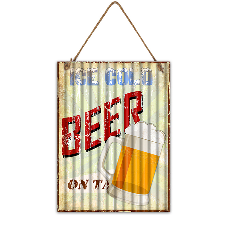 Home Restaurant Store Decor Metal Wall Art Plaque Signs