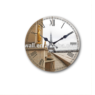 Home Decoration Vintage Wall Clock Custom Pattern High Quality Clock Components