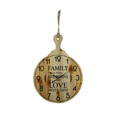 2018 The New Vintage High-end Wooden Decorative Digital Wall Clock