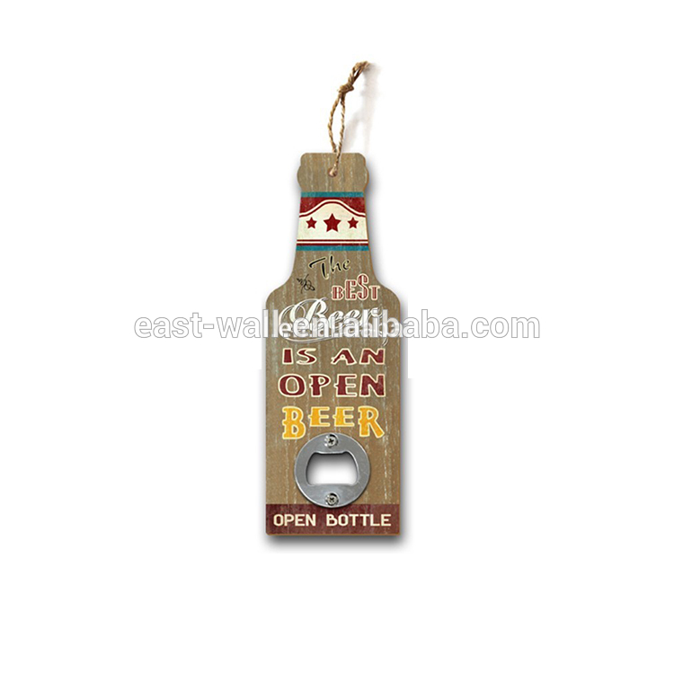 Printed Paper on MDF Personalized Beer Bottle Opener Wall Mount
