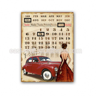 Get Your Own Designed Custom Logo Calendar Wholesale Wrought Iron Wall Plaques Hanging Calendar