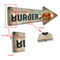 Metal Wall Hanging Tin Bar Sign Mini Led Lights Home Decorative for Craft