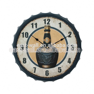 Hot Sale High Quality Low Cost Bottle Cap Decorative Tyre Wall Clock