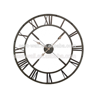 Large Iron Metal Decorative Wall Clock for Living Room