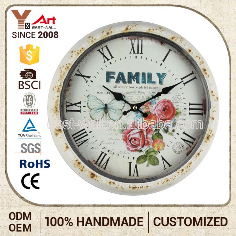 Lightweight Cheap Price Old Fashioned Antique Wall Yingzi Clock With Pendulum