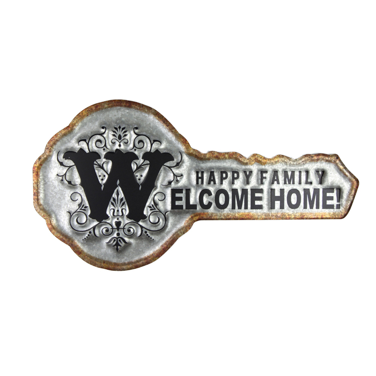Embossed Retro Small Metal Sign, Wall Art Tin Signs