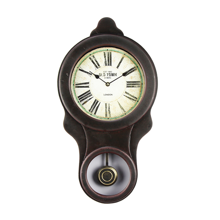 Wholesale Custom Made Home Office Room Wall Surface Quartz Retro Big Pendulum Wall Clock