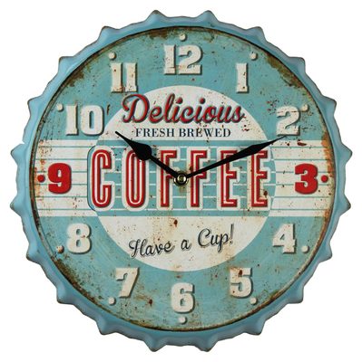 Hot Sale Bottle Cap Customised Wall Clock Made Vintage In China