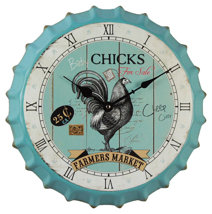 Honest Suppliers Old Antique Wall Clock Design, Bottle Cap Customised Digital Clock Wall