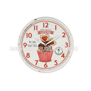 Quality Assured Lowest Price Manufacturer Cupcake Pattern Iron Wall Clock