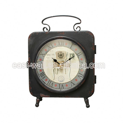 High Quality Customized Design Custom Printed Fancy Desk Table Clocks