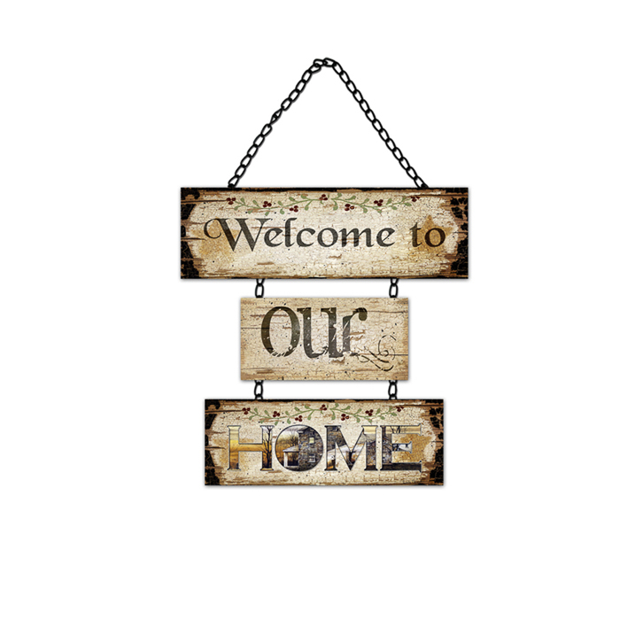 High Quality Home Decor Customized Size Handmade Wood Hello Sign, Hello Welcome Sign Wooden