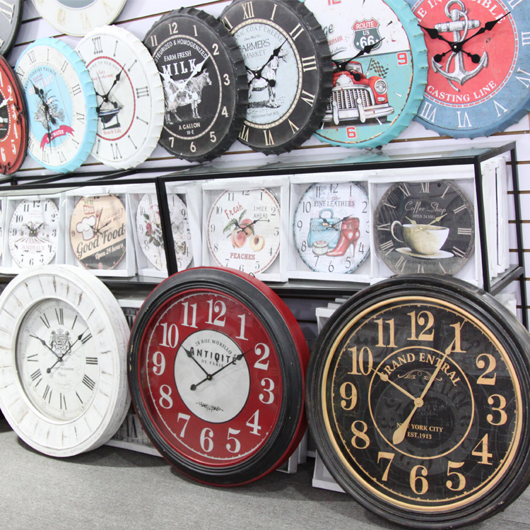 High Quality Customized Modern Metal Bottle Cap Wall Clock Logo