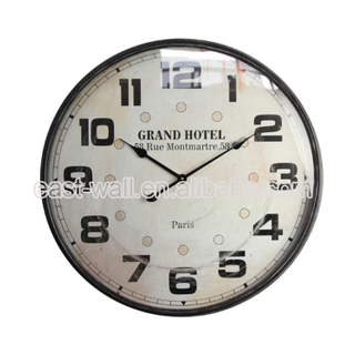 Vintage Design Decorative Mdf Fancy Decorative Wall Clock Draw Clocks
