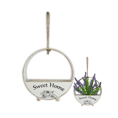 New Product Hot Sale Flower Half Round Hanging Wall Flower Basket