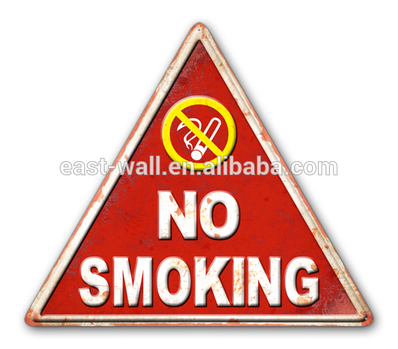 Convenient And Fast No Smoking Practical Triangle Interior Decoration Education Wall Hanging