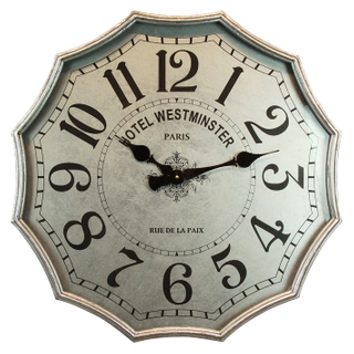 New Product Type Modern Pendulum Silver Wall Clock