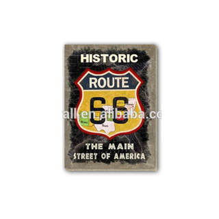 Old Fashioned Gift Use Home Decoration Art Craft Plaque Route 66