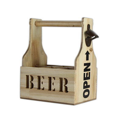 Factory Outlet Customizable Shape, Logo Wooden Storage Retro Bottle Opener
