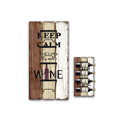 Home Kitchen Bar Accessories Wall Hanging Restaurant Wine Rack, Retro Hanging Wine Bottle Holder