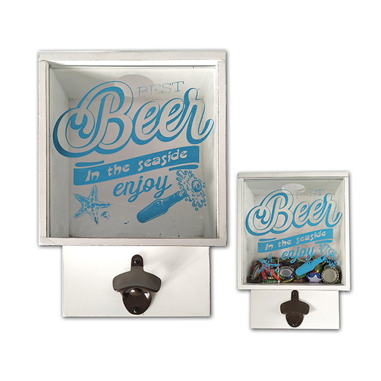 Multi-function Customized Beer Cap Storage Box With Bottle Opener