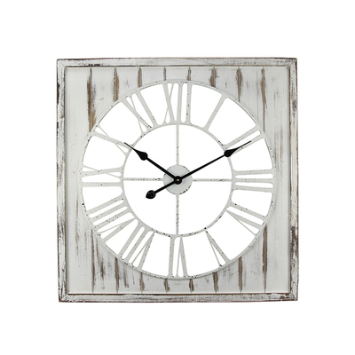 Simple Square Wooden Living Room Conference Room Digital Wall Clock