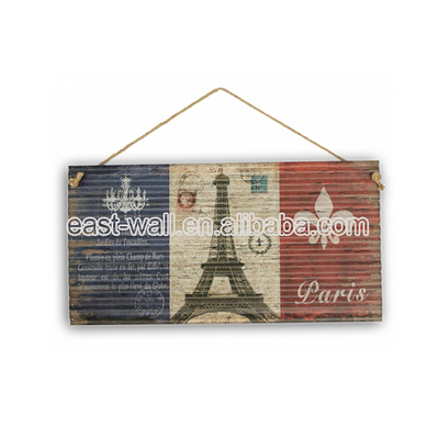 Highest Level Cheap Pieces Corrugated Metal Plaque Unique Home Decor