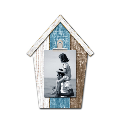 Wholesale OEM Cheap Wooden Hanging Photo Frame House Shape