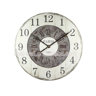 Simple Style Art Work Craft Mdf Old Fashioned Clock Wall Sticker