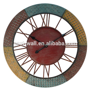 68x68x5cm multi coloured iron clock SGS compliance